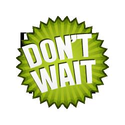 Don't Wait - Burst Badge Green