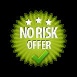 No Risk Offer - Burst Badge Green